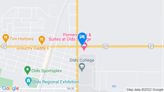 Best Western Of Olds Map