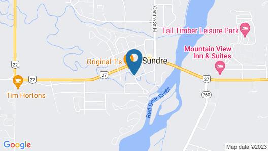 Sundre Motor Inn Map