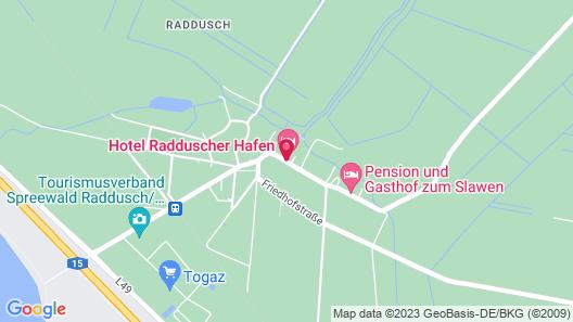 Hotel Radduscher Hafen Map