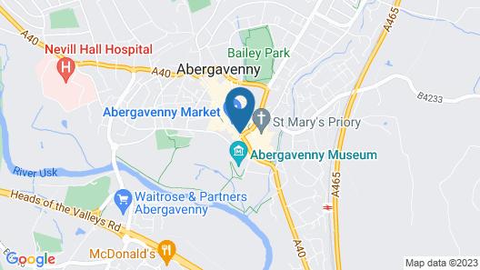 The Angel Hotel Abergavenny Map