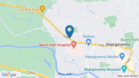 Llanwenarth Hotel & Riverside Restaurant Map
