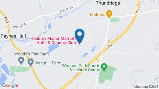 Hanbury Manor Marriott Hotel & Country Club Map