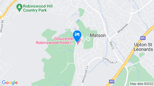 Gloucester Robinswood Hotel, BW Signature Collection Map