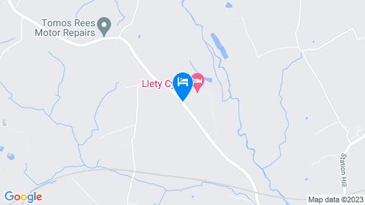 Llety Cynin Map