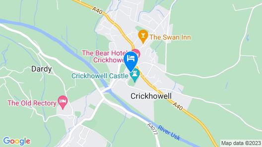 Dragon Inn Crickhowell Map