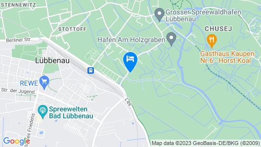 Mini Hotel Übernachten im Gurkenfass Map