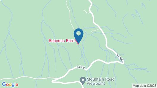 Rhiwddu Barns - Brecon Beacons National Park Map