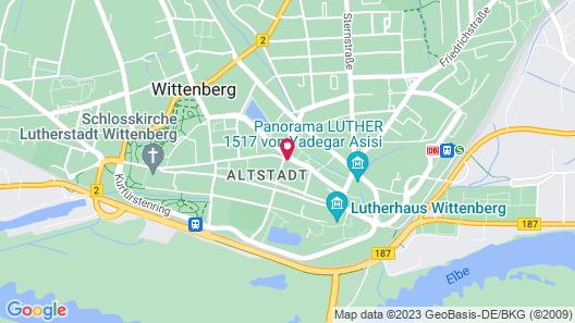 Ferienwohnung Wittenberg Map
