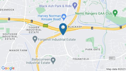 Travelodge Cork Airport Hotel Map