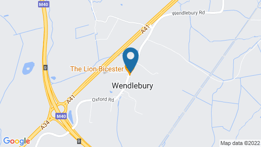 The Lion Wendlebury Map