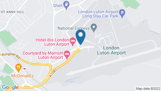 Holiday Inn Express London Luton Airport Map
