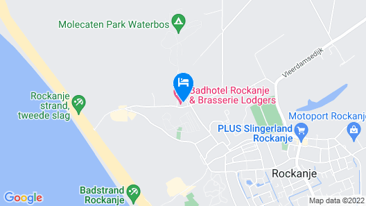 Badhotel Rockanje & Brasserie Lodgers Map