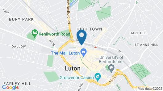 OYO London Luton Map