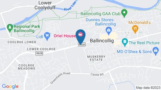 Oriel House Hotel Map