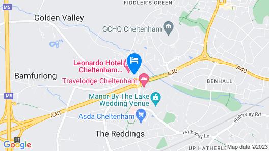 Jurys Inn Cheltenham Map