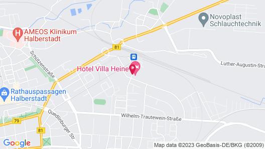 Hotel Villa Heine Map