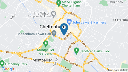 Citrus Hotel Cheltenham by Compass Hospitality Map