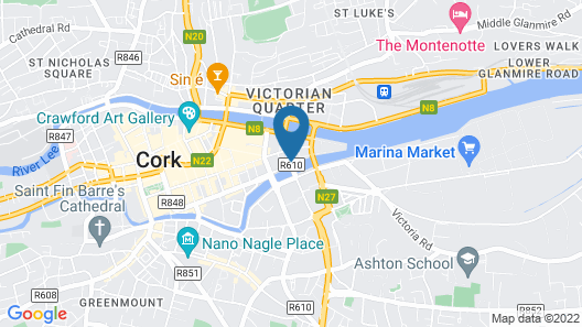 Clayton Hotel Cork City Map