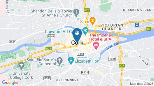 Comfort Cork Center Map