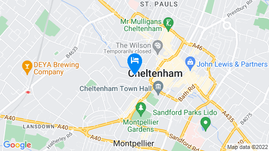 The George Cheltenham Map