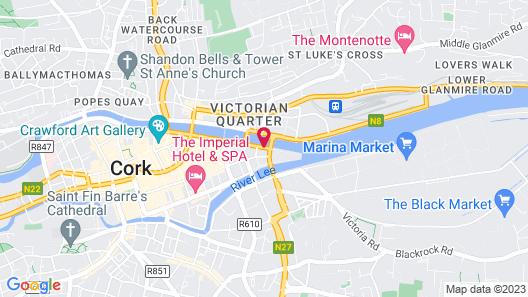 Jurys Inn Cork Map