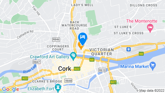 Cork City Centre Self Catering Apartment Map