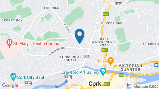 3 Bedroom newly furnished cork city Map