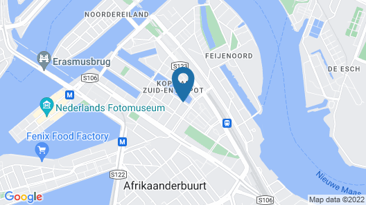 Boathotel Rotterdam Wilhelmina Map