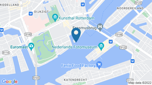 Unique Boat in Rotterdam Near Town Center Map