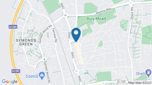 Cromwell Hotel Stevenage Map
