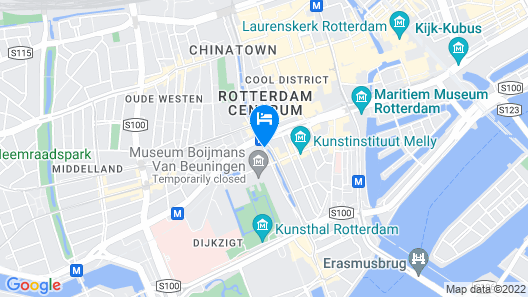 Bilderberg Parkhotel Rotterdam Map