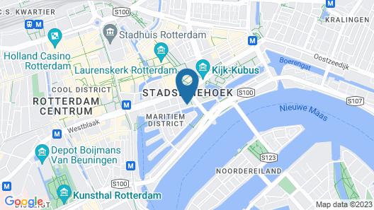 Boathotel Rotterdam Seven Map