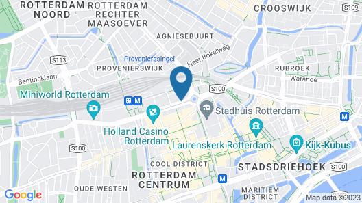 Holiday Inn Express Rotterdam - Central Station Map