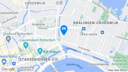The Slaak Rotterdam, A Tribute Portfolio Hotel Map