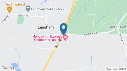 Holiday Inn Express Colchester Map