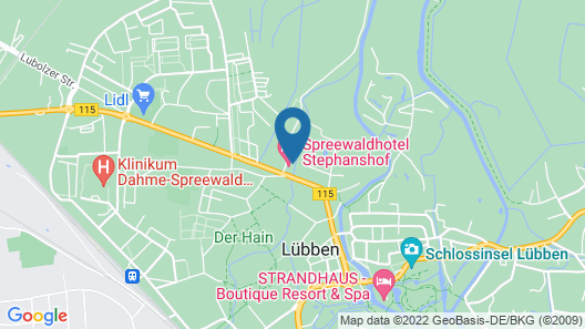 Spreewaldhotel Stephanshof Map