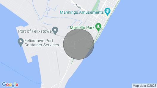 La Vacanza static 4 berth holiday caravan, at Suffolk Sands next to the beach Map