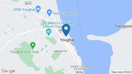 Romantic Sea View By Youghal Beach & Jacuzzi Bath Map