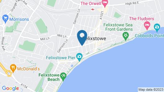 Best Western Brook Hotel Felixstowe Map