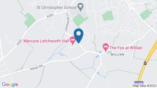 Mercure Letchworth Hall Map
