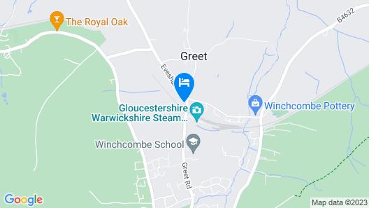 Stunning BIG Cotswold Cottage + Annexe Sleeps 16 Map