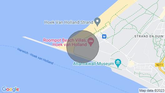 4-6-person Beach Villa in the Holiday Park Landal Beach Villa's Hoek van Holland Map