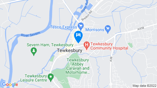 Theoc Cottage in Historic Tewkesbury Map