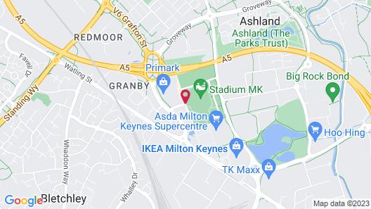 DoubleTree by Hilton Milton Keynes Map