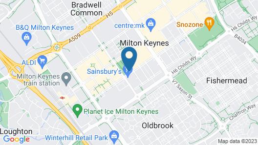 Moxy Milton Keynes Map
