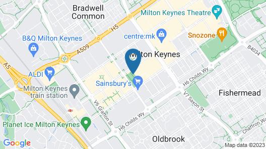 Travelodge Milton Keynes at The Hub Map