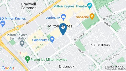 The Hub by ShortstayMK Map