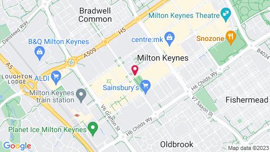 Jurys Inn Milton Keynes Map