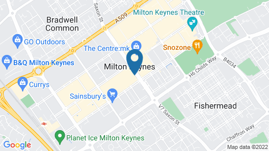 Holiday Inn Milton Keynes - Central Map