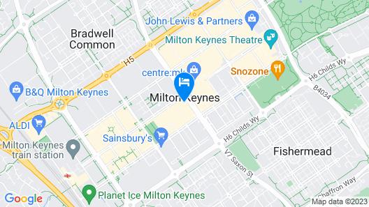 easyHotel Milton Keynes Map